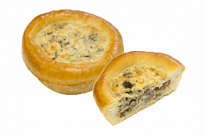 Пирожок Лоранский с грибами и сливочно-сырным соусом