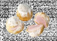 Пирожное Профитроли с клубникой У Палыча