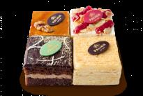 Набор мини тортов Малиновый, Прага, Наполеон, Медовая фантазия У Палыча