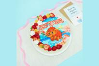 Торт Мамонтёнок с цветами и ягодами для мамочки SWEETMARIN