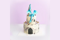 Торт Замок с драконом SWEETMARIN