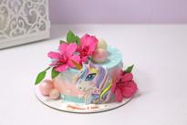 Торт Цветы и единорог SWEETMARIN