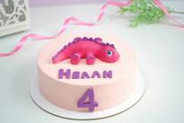 Торт Розовый динозаврик SWEETMARIN