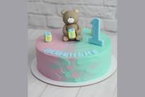 Торт мальчику с мишкой на годик SWEETMARIN