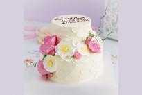 Торт Свадебный с розами SWEETMARIN