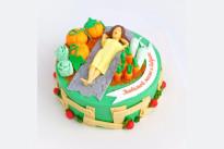 Торт Огород с грядками SWEETMARIN