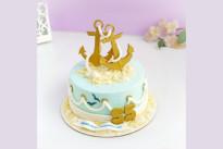 Торт Морской с якорями SWEETMARIN