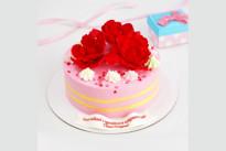Торт Красные цветы SWEETMARIN
