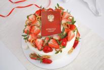 Кремовый торт с аттестатом SWEETMARIN