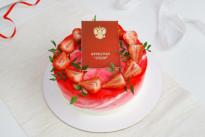 Праздничный кремовый торт на выпускной SWEETMARIN