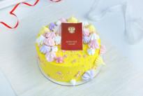 Солнечный кремовый торт на выпускной SWEETMARIN