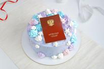 Сиреневый кремовый торт на выпускной SWEETMARIN