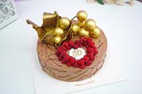 Торт Золото и малина SWEETMARIN