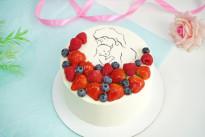 Торт для мамы с ягодами SWEETMARIN