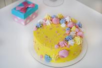 Нежно-желтый тортик с меренгами SWEETMARIN