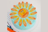 Голубой торт на выпускной SWEETMARIN