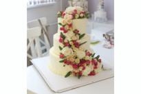 Свадебный торт с цветами SWEETMARIN