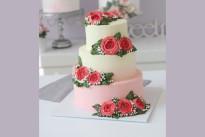 Торт Свадебный с кремовыми цветами SWEETMARIN