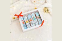 Дизайнерские эклеры с новогодними пожеланиями SWEETMARIN