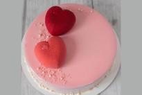 Торт Два сердечка SWEETMARIN
