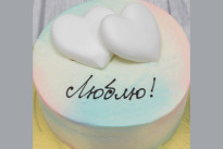 Торт Два белых сердца SWEETMARIN
