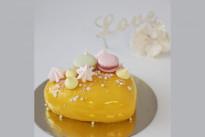 Торт Сердце желтое SWEETMARIN